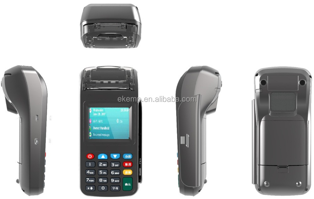 Handheld 1D/2D Scanner POS Terminal With Swipe Card Reader