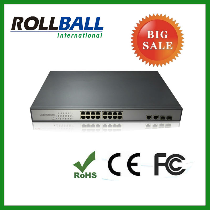high quality 10/100M 16 port gigabit poe switch