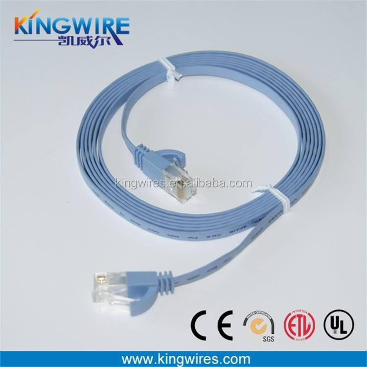 1000BASE-TX High Transmission Speed RJ45 Flat CAT 6 Ethernet Network Lan Cable