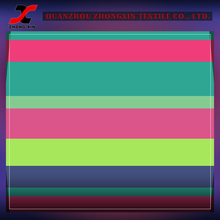 high elastic nylon spandex breathable stretch stripe knit fabric for active sports wear