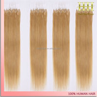 1g/strand honey blonde color 27 silky straight fish line micro ring hair extensions