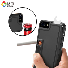 multifunctional cigarette lighter open mobile phone case cover for iphone 7