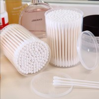 200 pcs paper stick cotton buds cotton swabs in pp box and in paper box