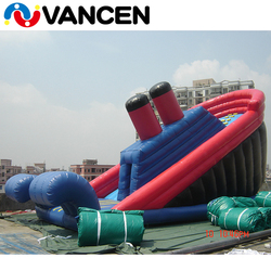 2018 summer cheap price customized size kids outdoor games party rental use commercial giant inflatable titanic slide for sale
