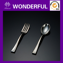 CS-6307 6308 disposable plastic modern square dinner set mini fork and spoon