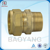 High precision oem cnc machining brass male tube fitting