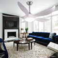 "110/220V 52"" 5 blades remote control white ceiling fan with 24w light"