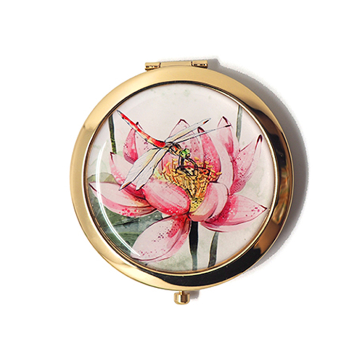 HX-8023 Custom elegant wholesale metal cheap compact mirrors