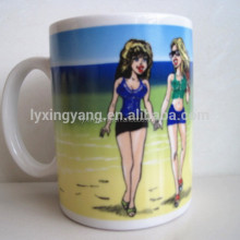 canecas para sublimation/wedding door gift mug/sexy color changing ceramic mug