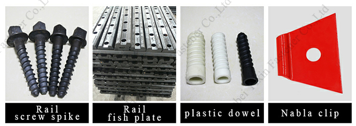 high quality railway fastening system track dog spike