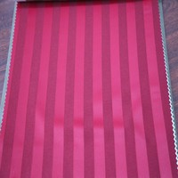Hotsale modern 100% polyester stripe blackout curtain cloth for decor