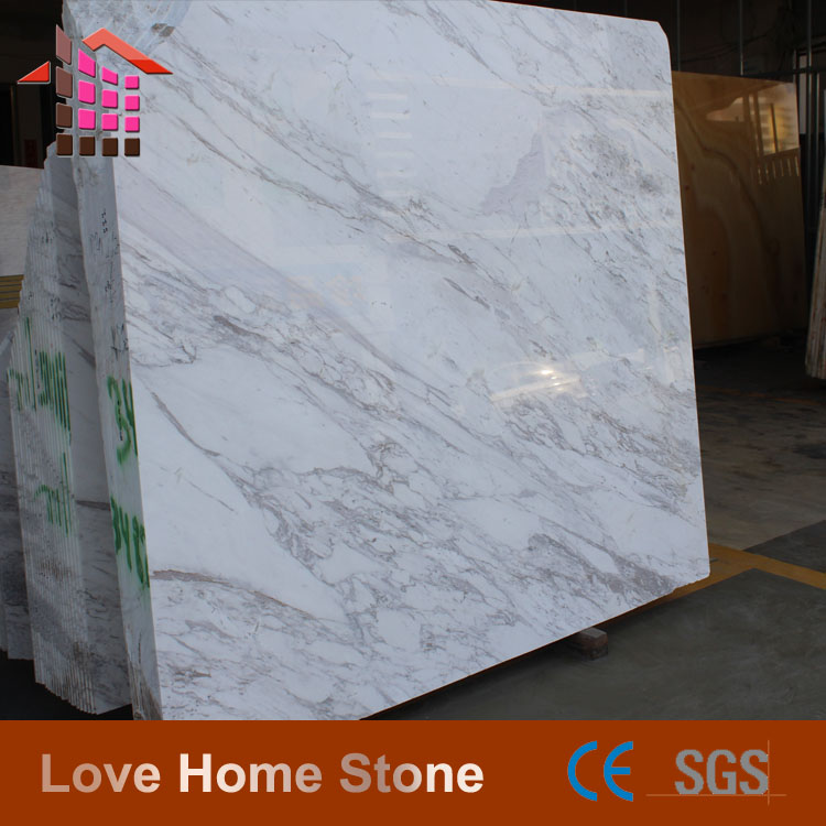 Factory cheap slab tile white carrara volakas marble