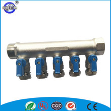 5-way brass vacuum tube solar collector manifold