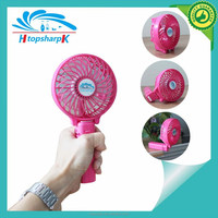 Promotional foldable mini 4 inch usb rechargeable fan with strong wind suitable for outdoor tourism
