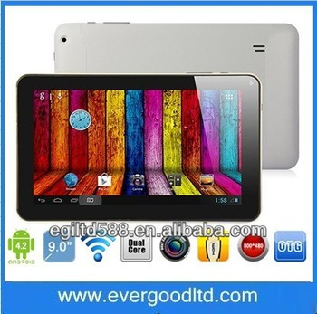 "9"" A23 1.5GHz 1024*600 Capacitive Screen Bluetooth 1GB/8GB Dual Core Android 4.4 Tablet PC in stock"