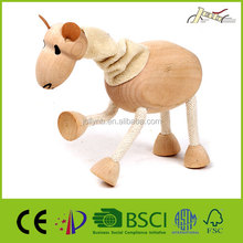 Camel Shape Animal Wooden Sculptures for Children Education Toy