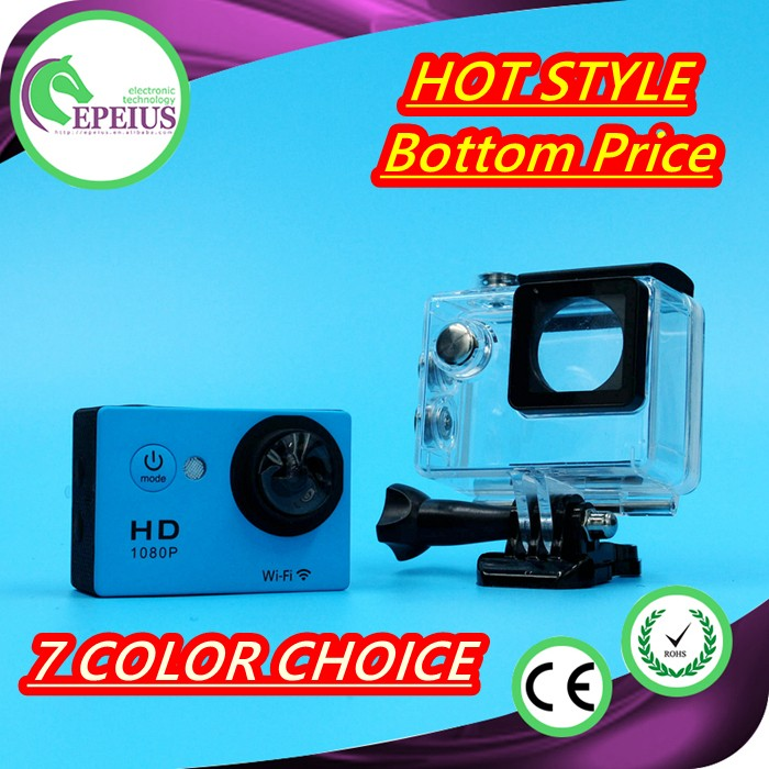 FACTORY OUTLETS W9 FISH EYE LENS HELMET WIFI MINI gopros heros 4 black edition action camera SPORT CAMERA