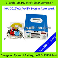 Lithium Battery 12V 40A MPPT Charge Controller With Timer Control