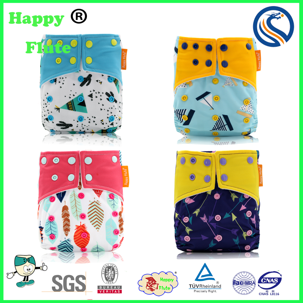 Happy flute suede one size pocket cloth diaper reusable diaper nappy