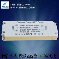 CE ROHS super slim led driver 40W power supply constant current 700ma 900ma 1200ma led converter