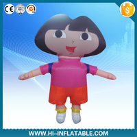 lovely 2015 new advertising inflatable cartoon girl,inflatable customized girl