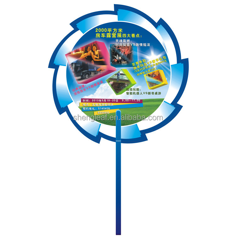 2016 customied logo with high quality pp hand fan for promotion