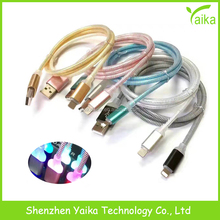 Yaika Mirco USB Cable with LED Light Colorful USB Cable for Android