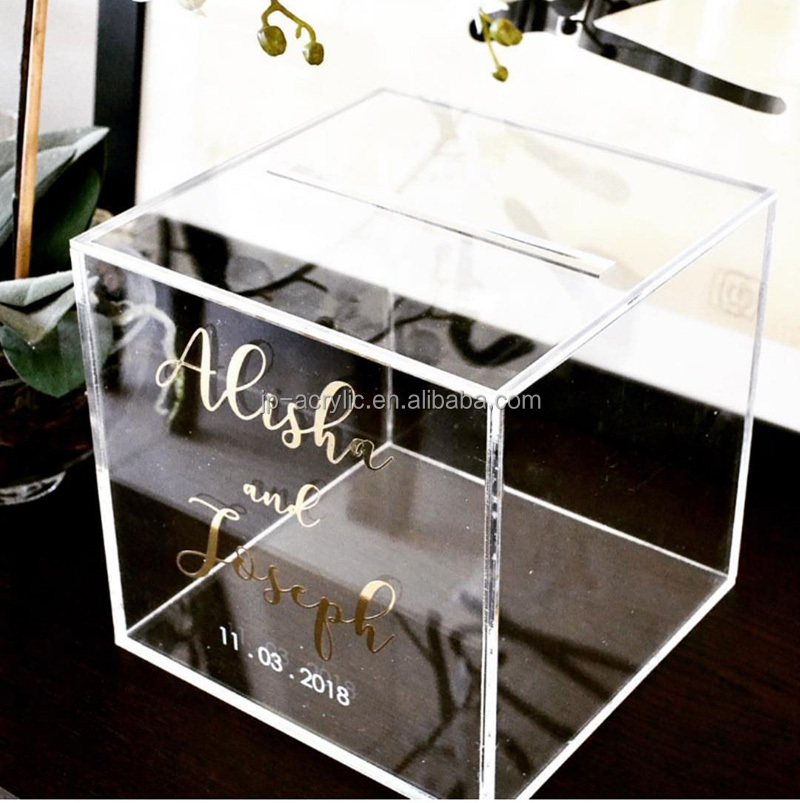 Custom Acrylic Wedding Wishing Well <strong>Box</strong>