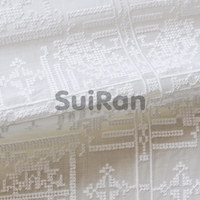 Silk Lace Fabric/White color cotton fabric/Fashion Embroidery Fabric Lace for dress (15006001)