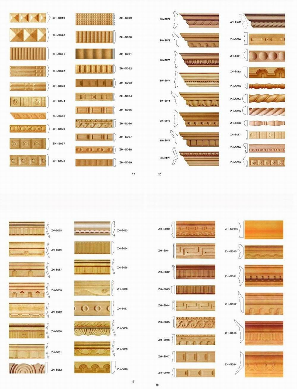 Interior wooden door architrave buy door architrave for Interior wood trim profiles