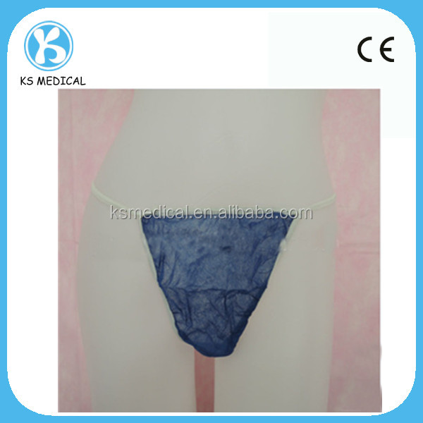 Disposable nonwoven PP SMS thong / g-string for men