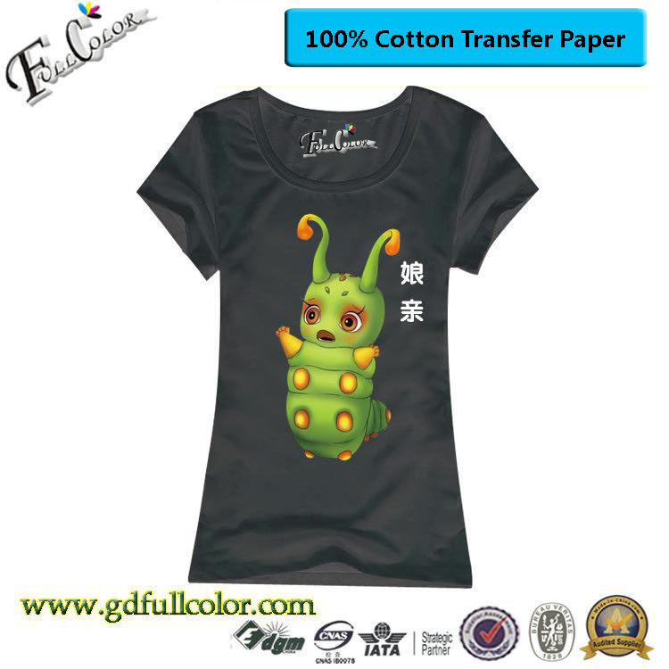 100% COTTON Inkjet Dark Heat Transfer Paper A4 for T Shirt Printing