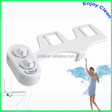 Bidet - Non-Electric Mechanical - Fresh Water Bidet Toilet Seat Attachment w/ Self-Cleaning Retractable Water Jet