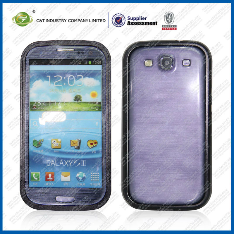 Deluxe Alloy Metal Frame Aluminum Bumper Case for samsung galaxy s3
