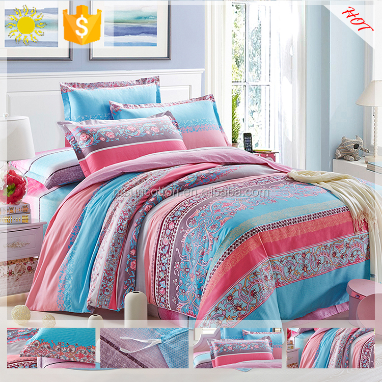 Embroidery kids bedding set/bed sheets cotton
