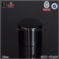 screw type black color aluminum cap for bottles and jars for sell cheap cosmetic aluminum cap free sample made in China