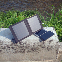 PowerGreen Customized Solar Energy 7 Watts Folding Solar Power Bank Mobile Charger For Android Phone