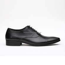 Wholesale Low MOQ Cap Toe Oxford Durable High Quality Leather Black Formal Men Shoes