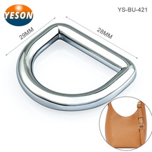 Zinc Alloy Bag Accessories Nickel D Ring Metal