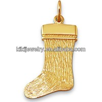 such a lovely lucky stocking gold plated charm