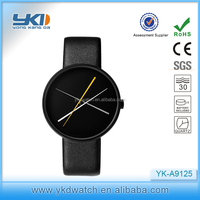 Newest men dress watch black case with unique dial