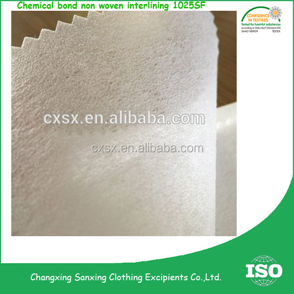 Impregnation non woven fusible interlining buckram fabric CM series