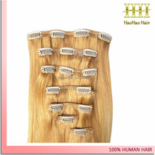 100% real malaysian human hair extension straight ombre hair extension clip in