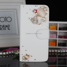 Free sample Crystal bling bling 3d animal mobile phone case from guangzhou