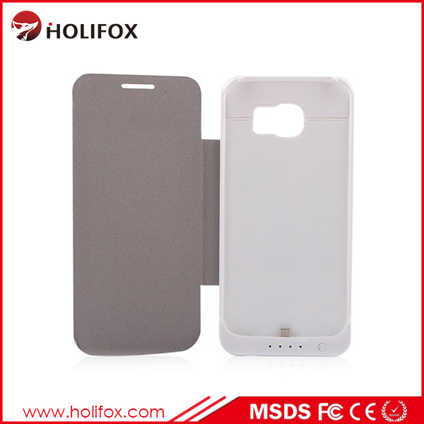 High Quality Leather Oem For Samsung Case Leather, Fancy Leather For Samsung S6, For Samsung S6 Case Battery Extender