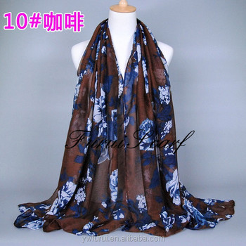 Women Fashion Viscose Hijab Women Scarves Muslim Long Shawl Wraps Oversize Voile Bandana