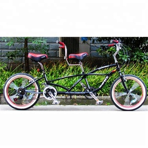Double seat for two people tandem downhill bicycle
