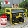 Small Natural Gas Generator With Tire Kit Easy Move For Buyer
