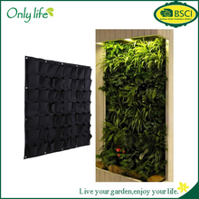 Onlylife factory selling Garden Hanging Vertical Planter Bag Indoor Outdoor Herb Pot Decor 56 Pocket Planter Bag