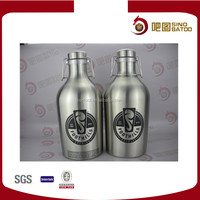 64oz SS Bottle Growler 2L with Metal Swing Top